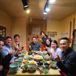 Foto dengan instruktur, Minseon